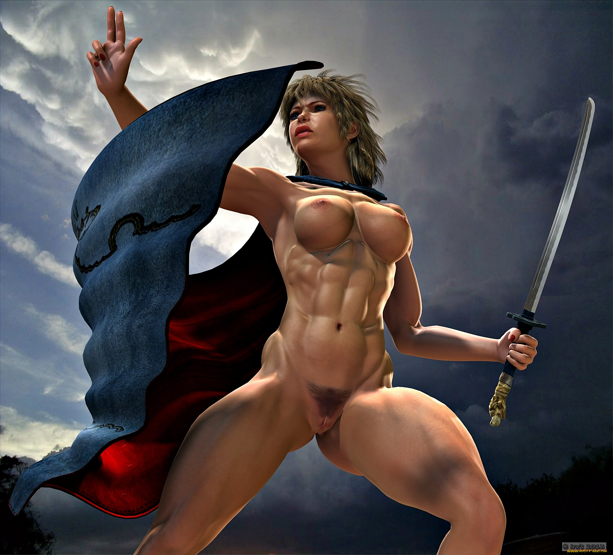 Nude warriors girls 3d wallpaper erotic woman